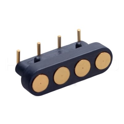 Right angle 4 pogo pin contacts power connector C714