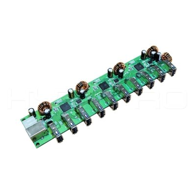 Type B Female usb 3.0 powered 10 port usb hub circuit board DH10