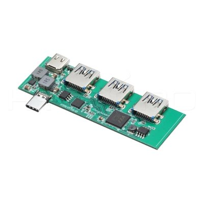 4port embedded usb type c OTG hub pcb with PD power supply H23