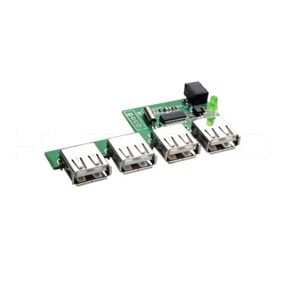 Plugable multi port micro usb 2.0 3.0 hub pcb with reserved solder pad H161702