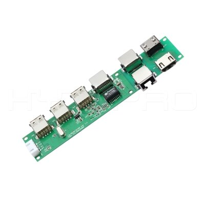 OTG usb 2.0 PD hub 7port pcb board assembly H28