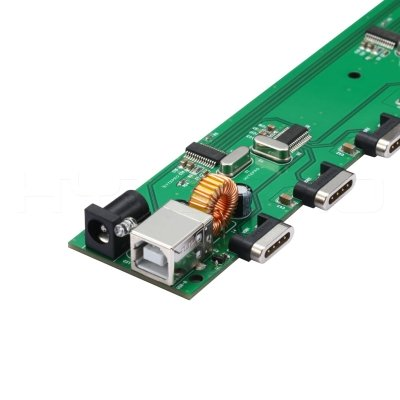 Custom pcb 16ports hub circuit board design with 4 pin magnetic connectors H37