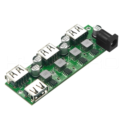 5V DC power 4-port USB charging hub pcb board H861