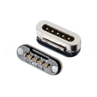 5 pins pogo pin magnetic power connectors M425P