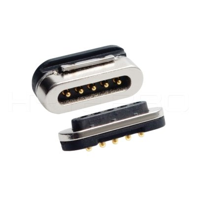 Pogo 5pin magnetic electrical connector M425P