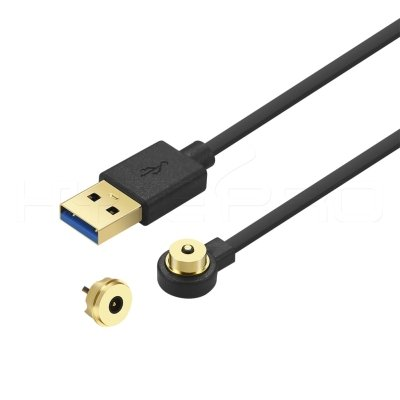 Stably working gilded 2 pin magnetic connector USB charging cable M523GB