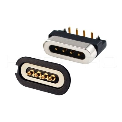 Waterproof 4 pogo pin magnetic connector M826