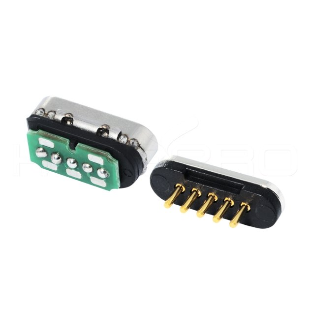 Solder 5 pin magnetic electrical connectors M425S