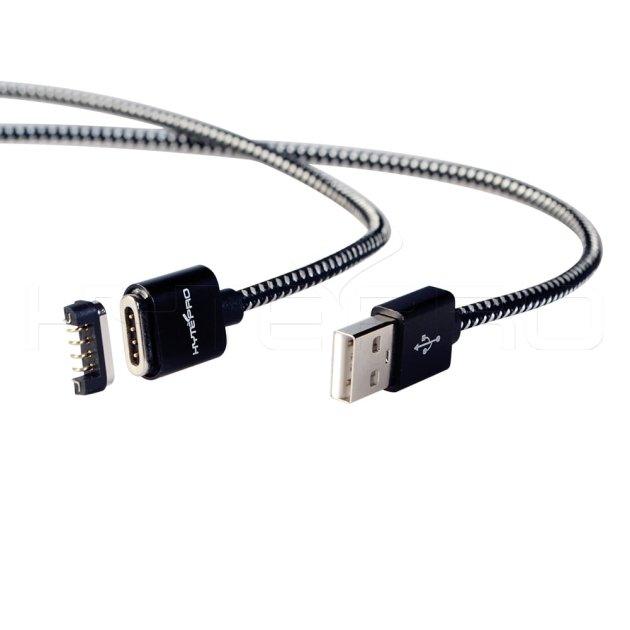 Aluminum magnetic 4 pin pogo connector cable M519