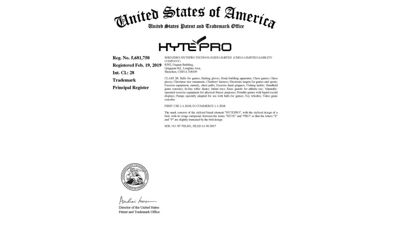 US Trademark for HytePro<sup>®</sup>